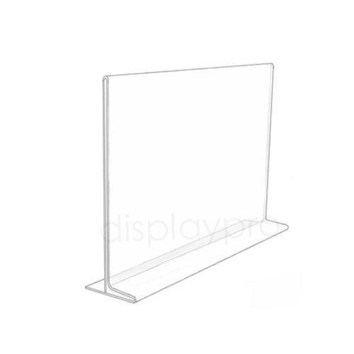 Displaypro 10x A4claro paisaje Póster Holder señal doble cara acrílico contador de escritorio menú expositor–envío gratuito.