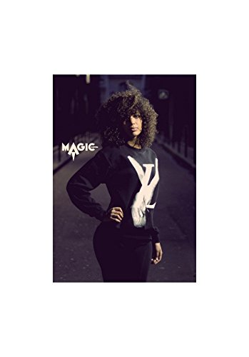 Magic custom - Sweat col rond peace and love Blanc