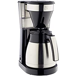 Melitta 6764913 Cafetière Filtre avec Verseuse en Acier Inoxydable, Easy Top Therm Steel II, 1023-10, Noir/Acier Inoxydable