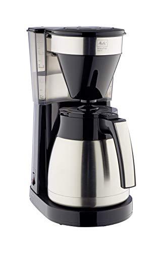 Melitta INOX Cafetera de Goteo Therm II con Jarra Isotérmica, Función Easy Click, 1L de Capacidad, Acero Inoxidable y Negra, 1023-10, 1050 W, 1 Liter, plástico