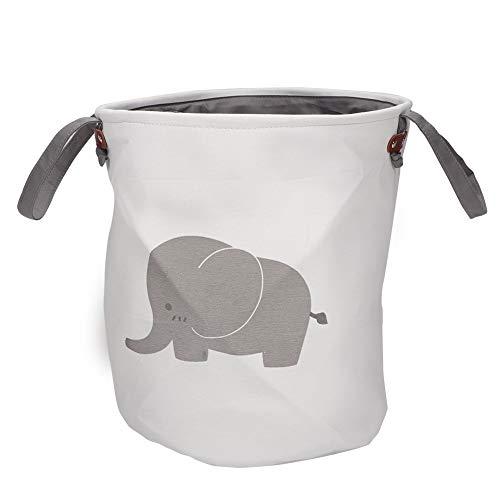 Lavandería Cesto de almacenamiento Canasta de almacenamiento Plegable Organizador Titular de la bolsa Estuche de lavandería Cubo de almacenamiento Ropa sucia Canasta de lavandería(elefante)