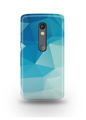 Moto X Play Cover,Moto X Play Case,Moto X Play Back Cover,Blue Polygon Moto X Play Mobile Cover By The Shopmetro-12536