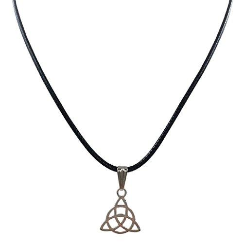 Collar para mujer, FEITONG Negro Gargantilla cordón de cuero collar del encanto retro pendiente de plata tibetano de Nueva Boho