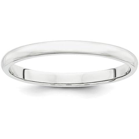 Icecarats Designer Di Gioielli In Platino Dimensione 8 2 Millimetri Semicircolare Anello Band Di Nozze - 8 Millimetri Platinum Wedding Band