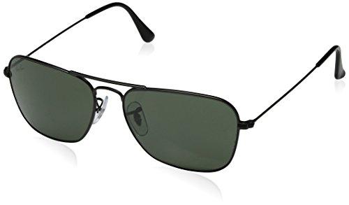 Ray-Ban Herren Sonnenbrille Rb 3136 Matte Black/Crystalgreen, 55