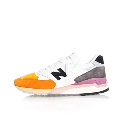 New Balance Sneakers Uomo 998 Lifestyle M998PSD (42 1-2 - ORANGE-Grey) (Balance New 998)