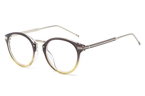 Embryform Neue runde Designer Brillen Rahmen mit klarem Objektiv