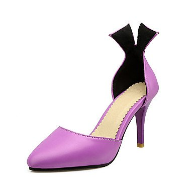 Sandali Primavera Estate Autunno D'Orsay & in due pezzi PU Office & carriera parte & abito da sera Stiletto Heel strass Purple
