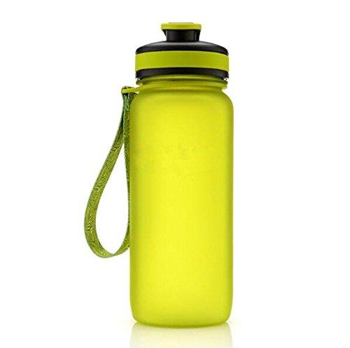 Sport Wasser Schüssel Kunststoffkoffer Leckage Aus Leicht Cup 650 Ml Große Männliche Und Weibliche Studierende Kinder Wasserkocher Zu Verhindern, Grün, 7,5 * 22 cm ()