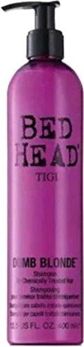 Tigi Bed Head Dumb Blonde Frauen Hair Treatment Shampoo 400ml mit Geschenk Tüte