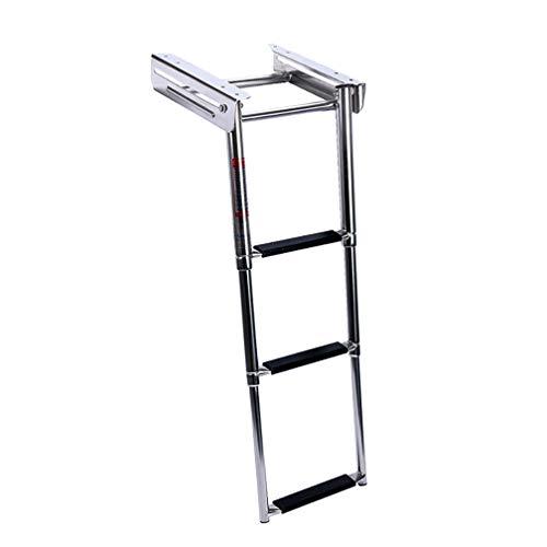Escalera de lanzamiento de acero inoxidable, metal Escalera plegable de acero inoxidable para barcos...
