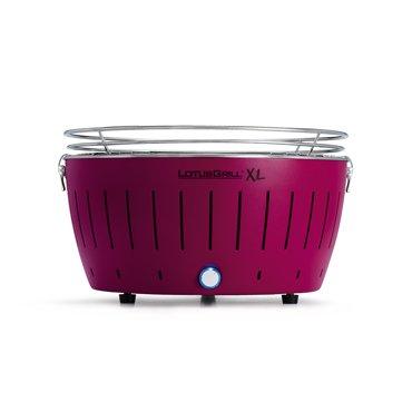 LotusGrill XL, Barbacoa de carbón sin humo, XL, color púrpura