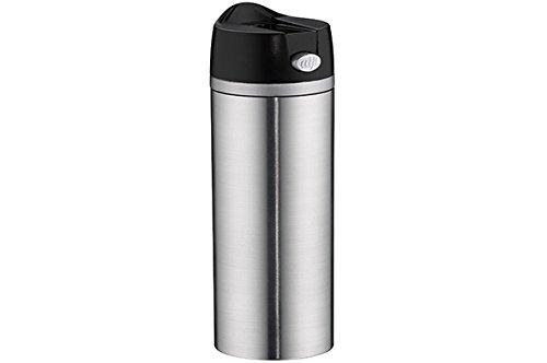 alfi 5817.205.035 Coffee To Go Trinkbecher isoMug Perfect, Edelstahl mattiert 0,35 l, zerlegbarer Verschluss, Spülmaschinenfest, 4 Stunden heiß (Edelstahl Isolier-becher)