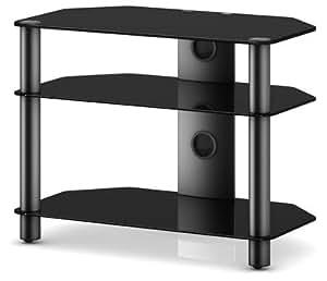"""Sonorous Neo 370 Meuble TV avec support pour écrans jusqu'à 37"""" Noir"""