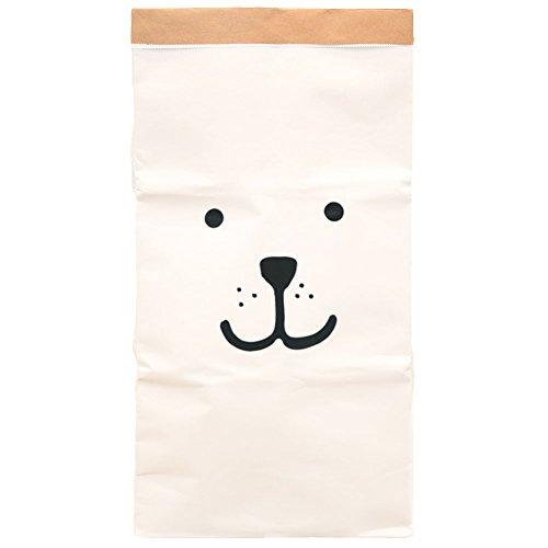 Paper-Bags zur Aufbewahrung von Spielzeug, Wäsche und weiteren Krimskrams - Beutel / Sack aus Papier - Papiertasche Motiv Bär wach