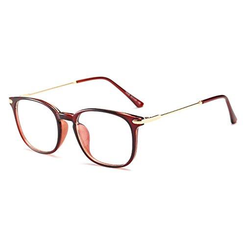 Hibote Männer Frauen Anti Blaues Licht Gläser - TR90 Ultraleichte Rahmen Klare Linse Mode Brillen mit Leder Brillenetui