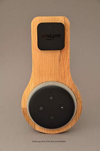 Halterung Echo Dot Gen 3 aus EICHE   Echo Dot 3. Generation   Halter   Wandhalterung   Ständer   Alexa   Holz   Smart Home
