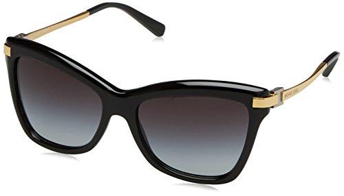 Michael kors 0mk audrina iii 317111 56, occhiali da sole donna, nero (black/lightgreygradient)