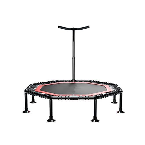 Duxx trampolino pieghevole con manico, trampolino sportivo per adulti per bambini, trampolino mini fitness - carico massimo 200 kg (nero) trampolino indoor
