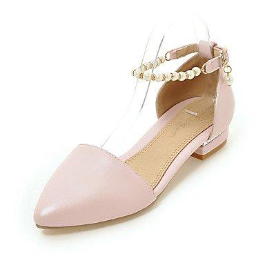 Sandales femmes Printemps Été Automne D'Orsay & ensemble de bureau en PU & partie de carrière & tenue de soirée Talon plat Pearl Blushing Pink