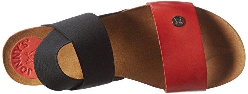 Jonny's 2465-17, Sandali Aperti Donna Multicolore (Rojo/Negro)