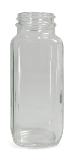 qorpak Glas Wide Mouth Bottle mit Hals Finish, transparent, farblos, 40