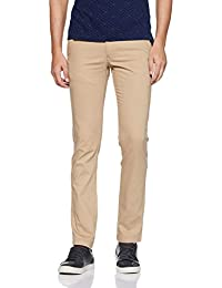 Indian Terrain Men's Slim Fit Casual Trousers