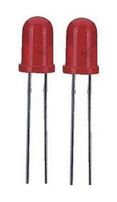 Blink LED 5 mm rot 100-300 mcd 60° Raster 2,54 mm 2 Stück (12) Mcd 5mm Led