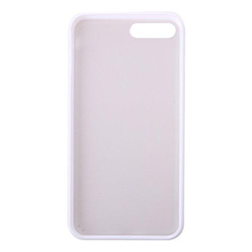 iPhone Case Cover Pour iPhone 7 Plus TPU + PC givré Housse de protection transparente ( Color : White ) White