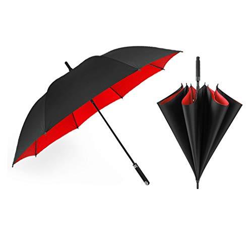 XL- 3-4 Personen Reise Regenschirm Winddicht, Auto einklappbar Regenschirme Doppel Regenschirm Tuch , Compact Sport Regenschirme (Farbe : Rot)