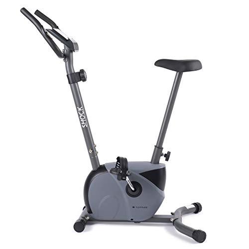 Xylo Sapphire Heimtrainer Fitness Fahrrad Hometrainer Ergometer Trimmrad Bike Trimmrad bis 130 kg (Silber - Schwarz)