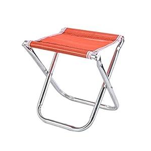 LIOOBO Tragbarer Mini-Klapphocker, Campinghocker, Outdoor Klappstuhl Slacker Chair für BBQ, Camping, Angeln, Reisen…