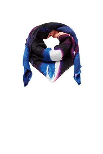 ESPRIT Accessoires Damen 098EA1Q014 Schal, Blau (Blue 430), One Size (Herstellergröße: 1SIZE)