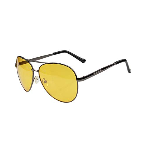 Sportbrillen, Angeln Golfbrille,Night Vision Glasses Men Driving Yellow Lens Sunglasses Classic Anti Glare Vision Driver Safety Glasses For Men night Vision (Wein Gläser In Loser Schüttung)