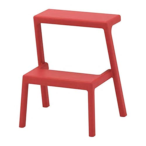 SIU Marchepied Marron et Rouge, assemblé Taille Largeur : 43 cm Profondeur : 40 cm Hauteur : 50 cm Charge Max. : 100 kg, matériaux Plastique Polypropylène