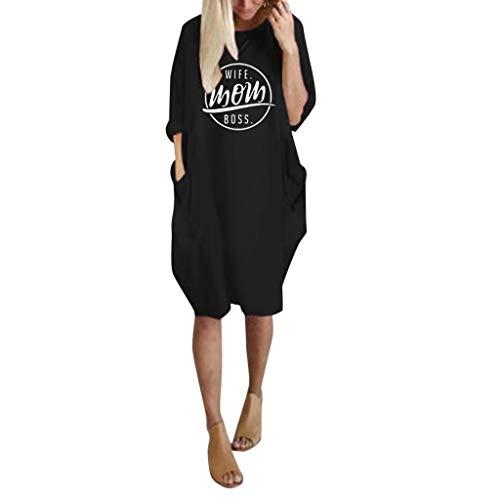 TEFIIR T-Shirt für Damen, Oktoberfest, Leistungsverhältnis Lose Größe Frauen-Sommer-Lange Hülsen-gedrucktes kurzes Minikleid Geeignet für Freizeit und Urlaub -