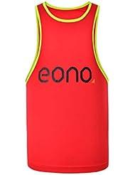 Eono Essentials, maglietta sportiva per bambini, taglia 10 anni, colore rosso