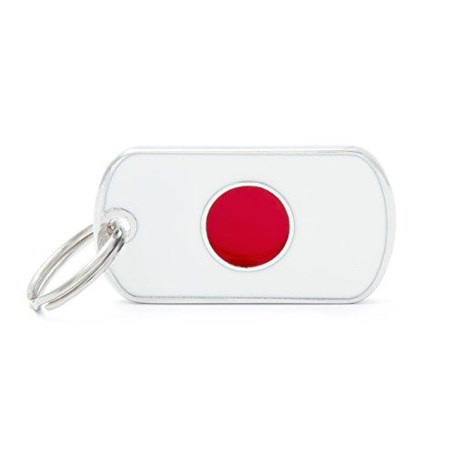 Médaille MyFamily Military Petite Flags Japon plaque chien gravure gratuite coutume chat
