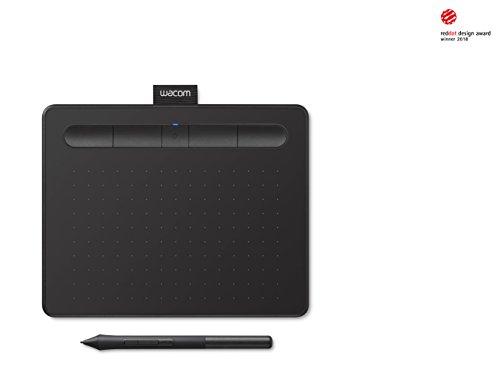 Wacom Intuos S Schwarz Stift-Tablett – Mobiles Zeichentablett Zum Malen & Fotobearbeitung mit druckempfindlichem Stift & Bluetooth – Kompatibel mit Windows & Mac