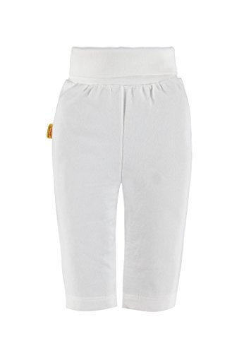 Steiff Collection Unisex Hose Jogginghose, Gr. 68, Weiß (cloud dancer 1610)