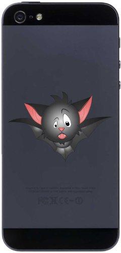 pinkelephant Handy-Aufkleber - Fledermaus 09 - bat - handy skin - 50 mm Aufkleber