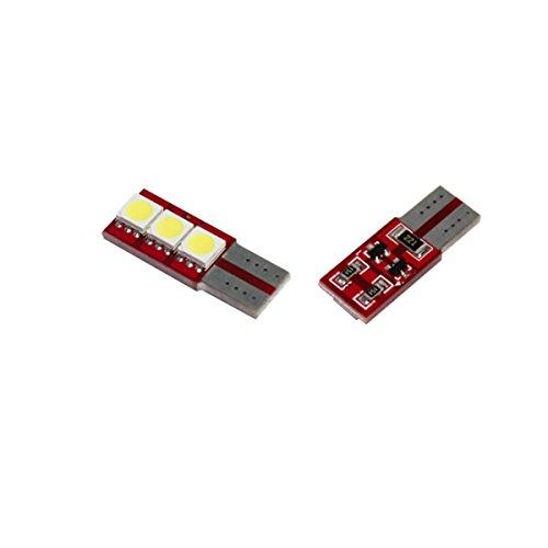 T10C3W - Blanc Canbus SMD LED lampe ampoule de rechange feux de position W5W T10 12V 3x LED SMD éclairage de plaque d'immatriculation éclairage intérieur (pas d'erreur)