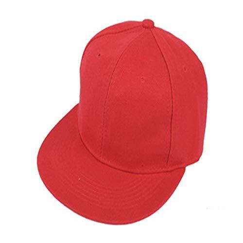 Salvaje Coreano Retro Color sólido Gorra de béisbol Gorra Plana Sombrero monopatín Sombrero de Hip-Hop 红色 红色 Ajustable