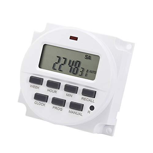 Programmierbarer Relais-Zeitschaltuhr TM618 Leistung LCD Digital-Timer AC 220 V / 12 V / 110 V / 24 V 12V - 12v Ac Timer Relais