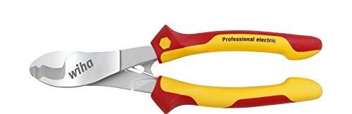 Wiha Kabelschneider Professional electric mit ein- und ausschaltbarer Öffnungsfeder in Blister (43664) 180 mm
