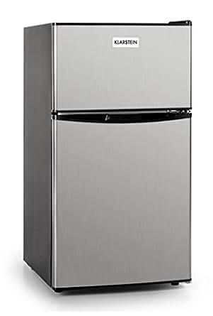 Klarstein Big Daddy Cool Autonome 80L A+ Acier inoxydable réfrigérateur-congélateur - Réfrigérateurs-congélateurs (80 L, N-ST, 39 dB, A+, Acier inoxydable)