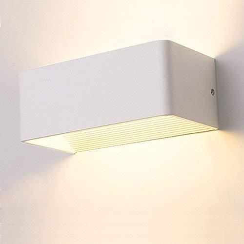 Sisviv applique da parete interni lampada da parete a led 7w illuminazione interna da muro stile moderno per decorazione camera da letto soggiorno, colore bianco