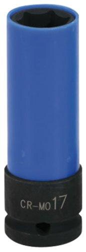"""KS Tools 515.1073 1/2"""" Alu-Felgen Kraft-Stecknuss robust, lang, 17mm"""
