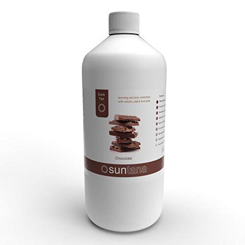 Suntana spray tan Solution 1000ml Chocolat Fragranced 12% de DHA foncé Autobronzant