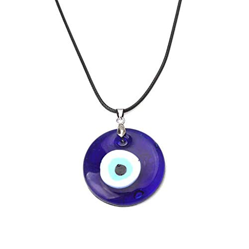 FURU Halskette Mit Anhänger- Türkische Evil Eye Protection Blue Eyes Glas Glücksbringer Anhänger Halskette Unisex (Halskette Evil Eye Protection)